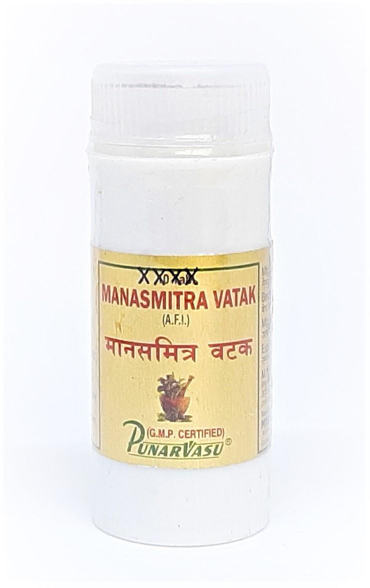 Манасамитра вати, балансирует и успокаивает нервную систему, улучшает память и интеллект, Manasmitra Vatak