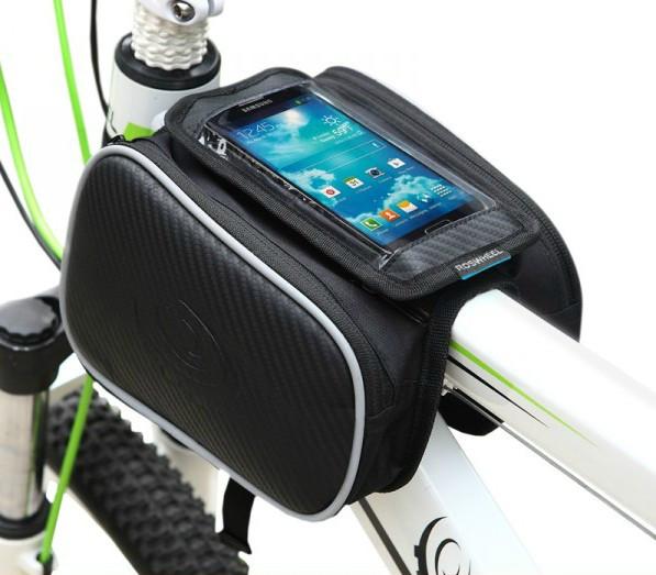 """Велосумка """"штаны"""" нарамная Roswheel 12813 с отделением для телефона 5.0"""" / 5.7"""""""