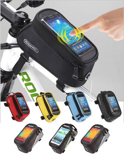 Велосумка нарамная c отделением для телефона Roswheel 12496 (размеры M / L, 6 расцветок)