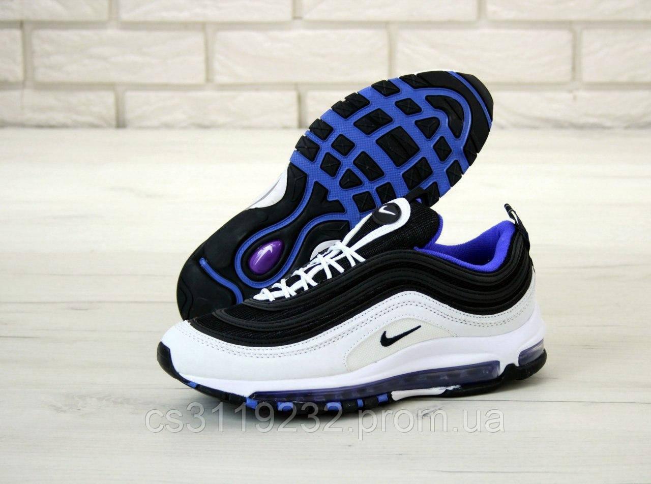 Мужские кроссовки Nike Air Max 97 (белый/черный/синий)