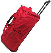 Большая сумка на колесах 100 л David Jones B8882 красная