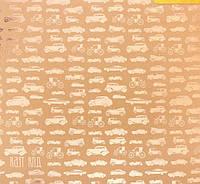 Бумага крафтовая для скрапбукинга с фольгированием «Наоборот», 30,5 × 30,5 см, 250 г/м