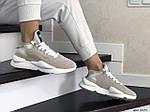 Жіночі кросівки Adidas Y-3 Kaiwa (бежеві), фото 3