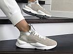 Жіночі кросівки Adidas Y-3 Kaiwa (бежеві), фото 2