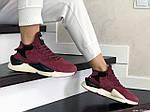 Женские кроссовки Adidas Y-3 Kaiwa (бордовые), фото 3