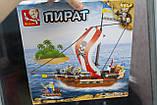 """Конструктор SLUBAN """"Пиратский корабль"""" 226 деталей., фото 7"""