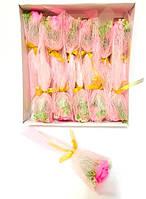 Ароматическая роза мыло цветок, букет - подарок на день Святого Валентина, розовый цвет, набор 12 шт