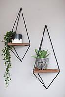 Дизайнерская Декоративная навесная полочка в стиле Лофт Loft