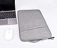 Чехол для Macbook Air/Pro 13,3'' с ручкой - черный, фото 9