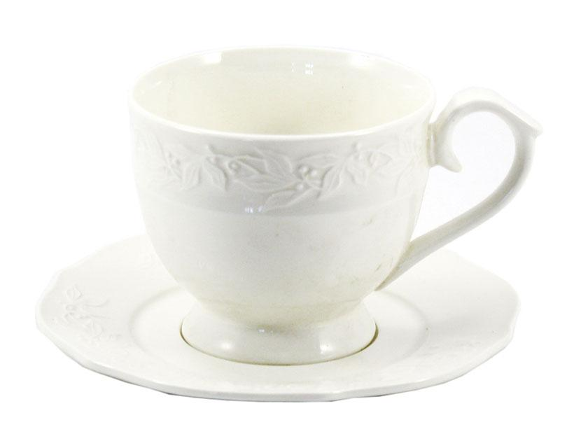Чашка с блюдцем 300 мл 2 предмета Ника Interos LTBS-C0113