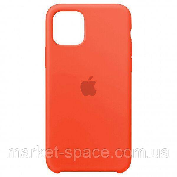 """Чехол силиконовый для iPhone 11 Pro. Apple Silicone Case, цвет """"New apricot"""" (с открытым низом)"""