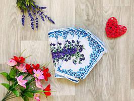 Носовой платок из хлопка цветок микс
