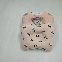 Ортопедическая подушка для новорожденных Тм Миля Бантики 22 х 26 см