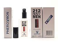 Духи миниатюра Тестер в подарочной упаковке Carolina Herrera 212 Sexy Men 60 мл в цветной упаковке с феромонами реплика