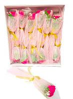 Ароматическая роза мыло цветок, букет - подарок на день Святого Валентина, малиновый цвет, набор 12 шт