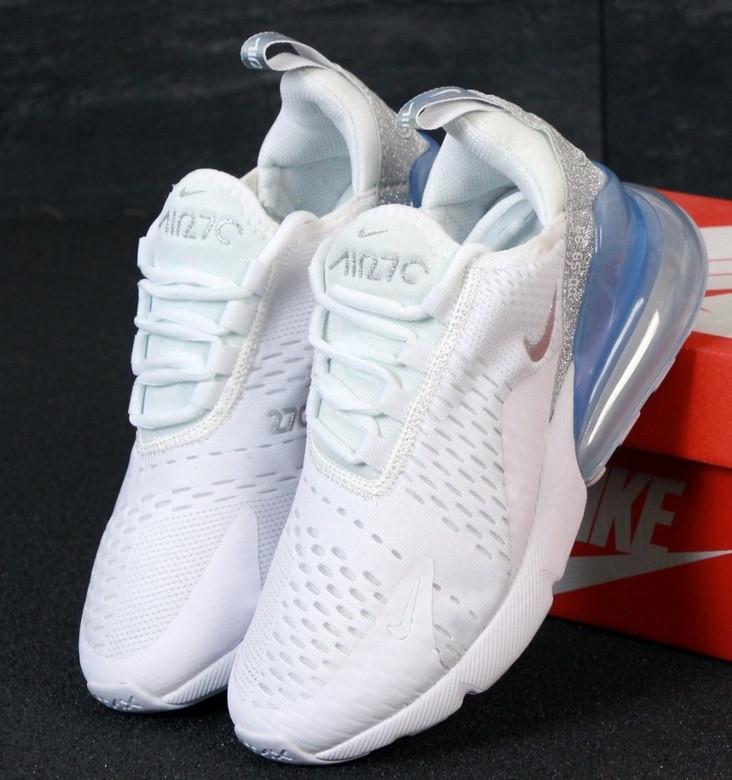 Кроссовки женские  Nike Air Max 270 x Stephanie Au White Silver 36-40р. Живое фото. Реплика