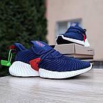 Чоловічі кросівки Adidas Alphabounce Instinct (синьо-червоні), фото 5