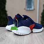 Чоловічі кросівки Adidas Alphabounce Instinct (синьо-червоні), фото 6