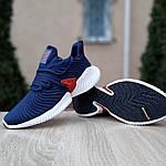 Чоловічі кросівки Adidas Alphabounce Instinct (синьо-червоні), фото 4