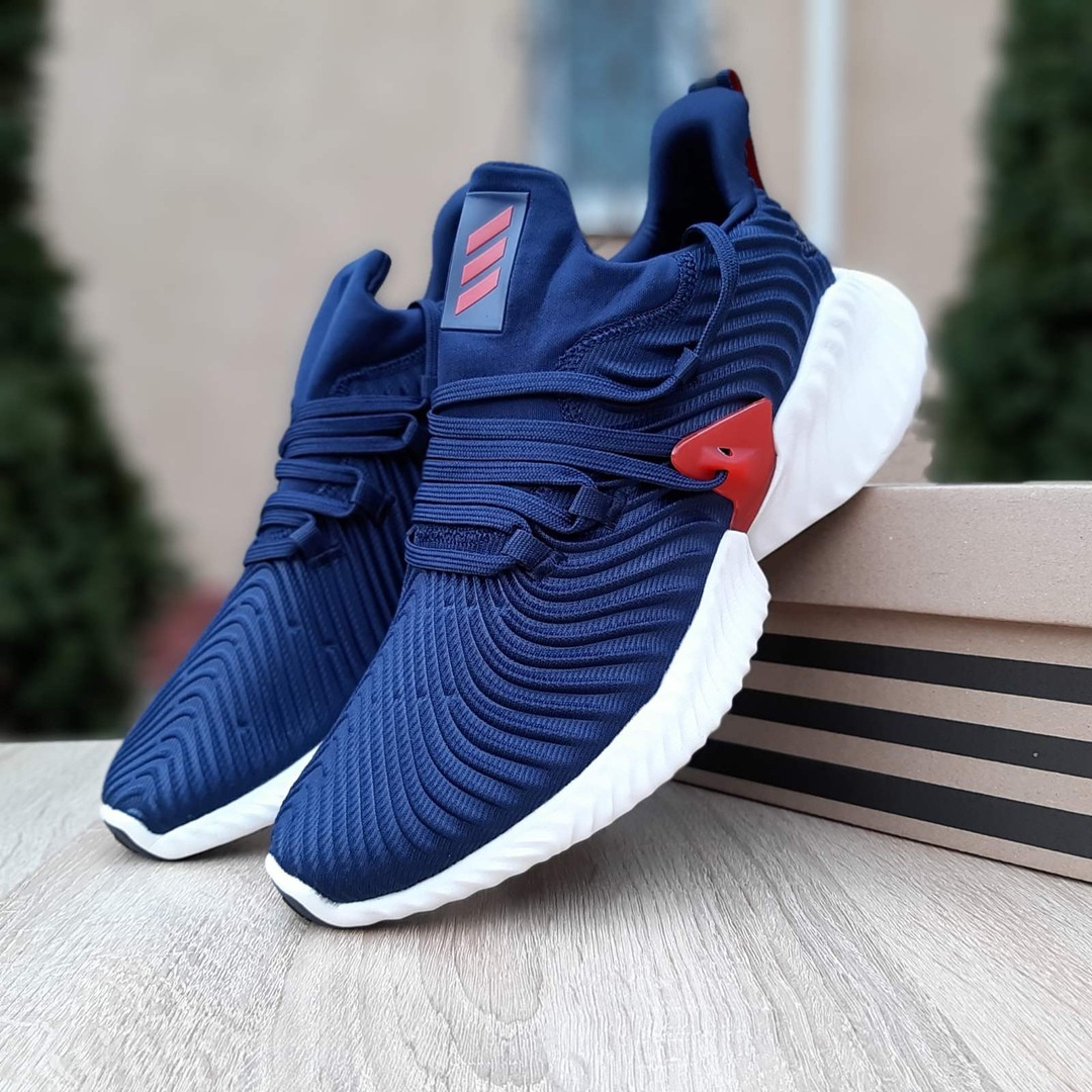 Мужские кроссовки Adidas Alphabounce Instinct (сине-красные)