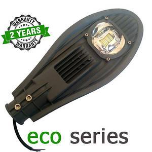 Консольный уличный светильник LED 30W 6000-6500К с линзой серия ECO