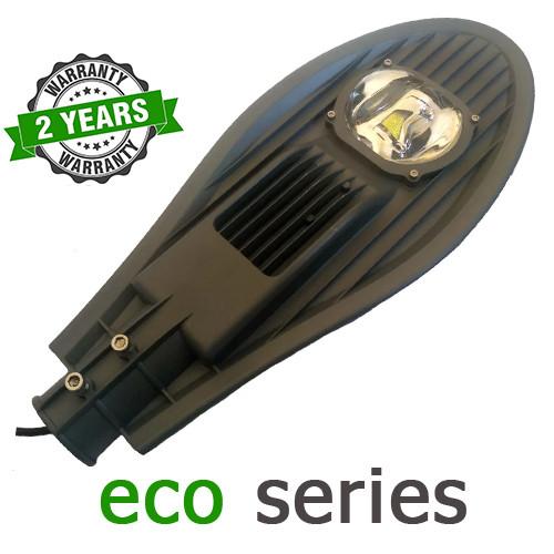 Консольный уличный светильник LED 50W 6000-6500К с линзой серия ЕСО