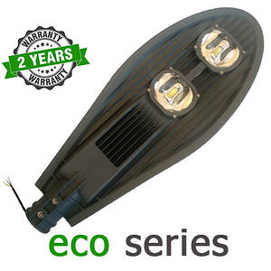 Консольный уличный светильник LED 100W 6000-6500К с линзой серия ЕСО