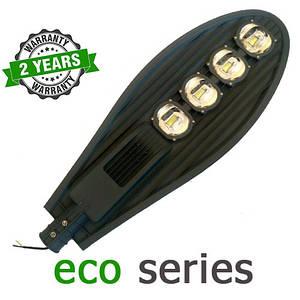 Консольний вуличний світильник LED 200W 6000-6500К з лінзою серія ECO