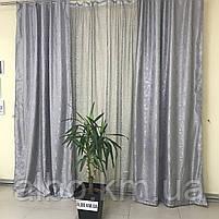 Шторы комбинированые с тюлью для спальни зала кухни, шторы и тюль в детскую комнату гостинную из жаккарда,, фото 7