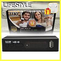 Тюнер цифрового телевидения DVB-T2 0967 с поддержкой wi-fi адаптера + ПОДАРОК! Наушники Apple