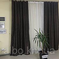 Шторы и тюль жаккард для зала спальни квартиры, шторы со звездами в комнату спальню кухню, тюль и шторы с, фото 6
