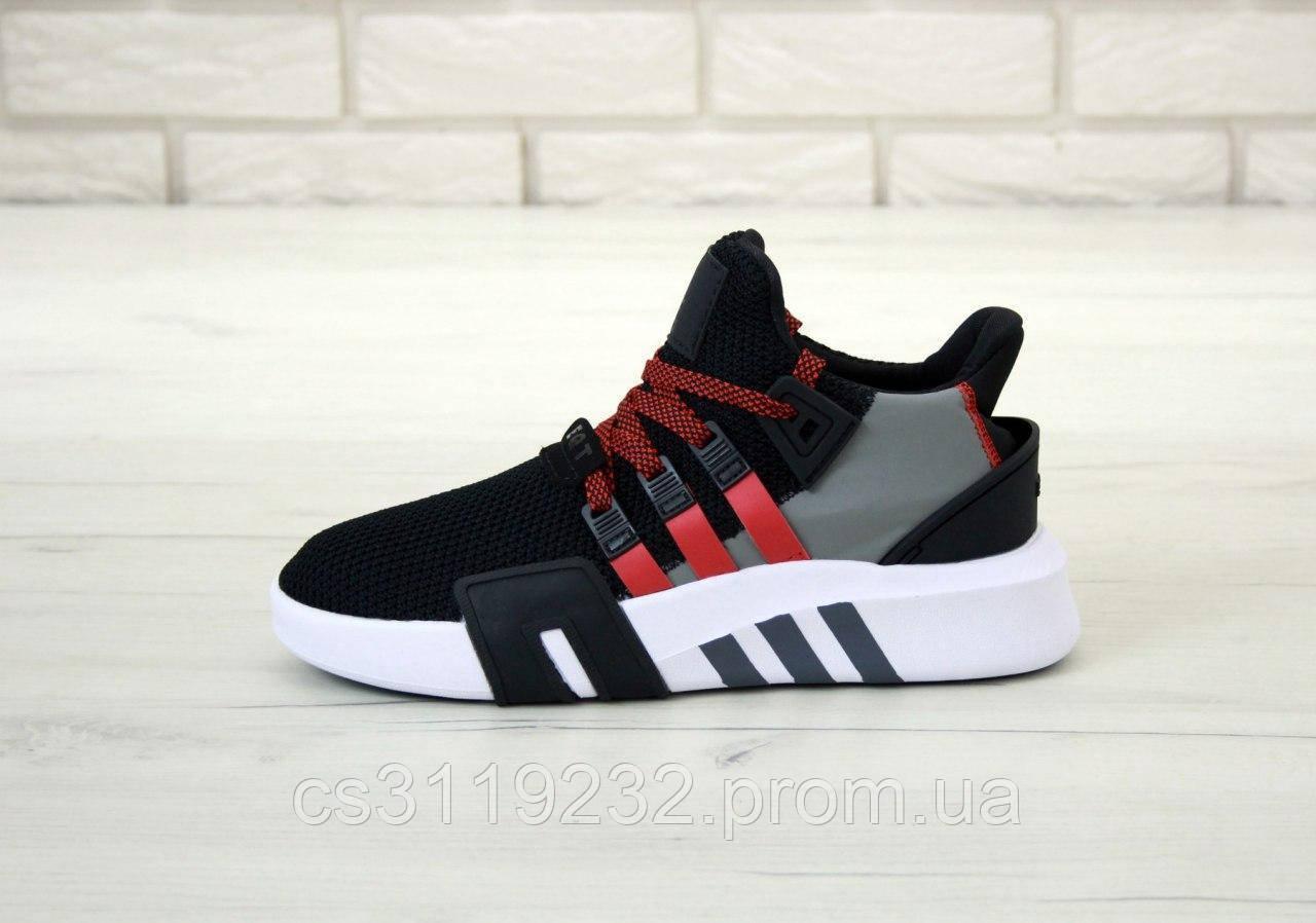 Мужские кроссовки Adidas EQT Black Red (черно-красные)