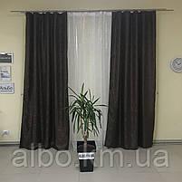 Шторы и тюль жаккард для зала спальни квартиры, шторы со звездами в комнату спальню кухню, тюль и шторы с, фото 3