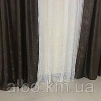 Шторы и тюль жаккард для зала спальни квартиры, шторы со звездами в комнату спальню кухню, тюль и шторы с, фото 10