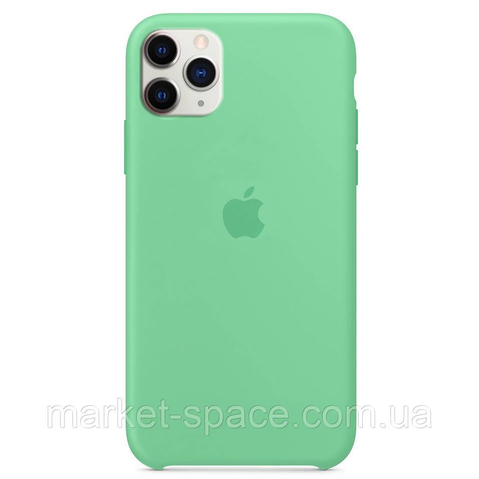 """Чехол силиконовый для iPhone 11 Pro. Apple Silicone Case, цвет """"Spearmint"""" (с открытым низом)"""