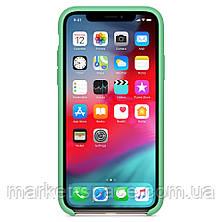 """Чехол силиконовый для iPhone 11 Pro. Apple Silicone Case, цвет """"Spearmint"""" (с открытым низом), фото 3"""