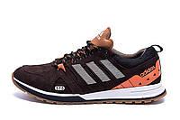 Мужские кожаные кроссовки Adidas A19 Brown Star (реплика)