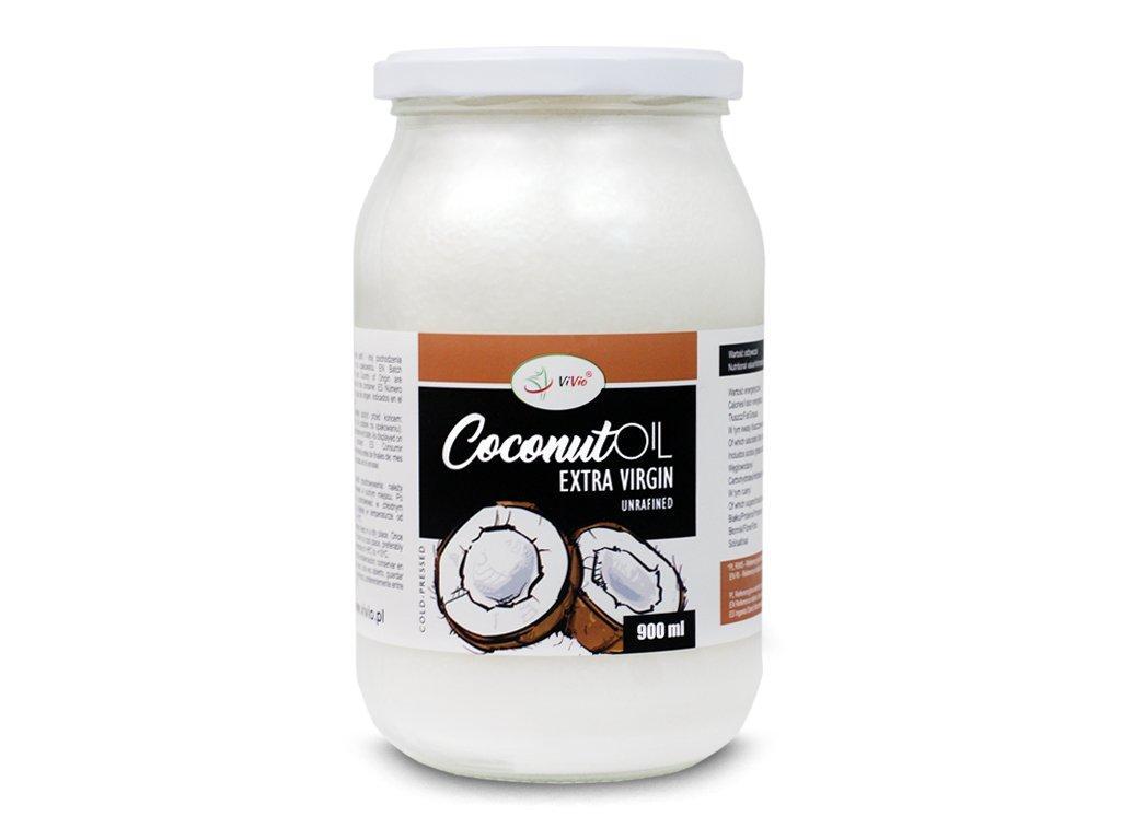 Нерафинированное кокосовое Масло Extra Virgin - 900 мл, Vivio