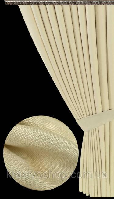 Ткань для пошива штор Лен Аврора 303
