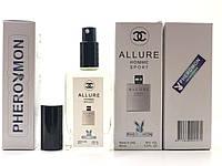 Тестер в подарочной упаковке Chanel Allure Homme Sport 60 мл в цветной упаковке с феромонами реплика