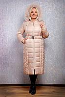 Теплое зимнее пальто Милана макси, разные цвета, р 44-72, фото 1