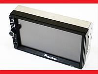 2din Магнитола Pioneer 7019 USB+SD+Bluetooth+ПУЛЬТ НА РУЛЬ (короткая база), фото 1