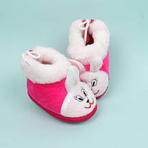 Пинетки теплые с опушкой для девочки Мишка размер 11, фото 3