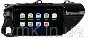 Штатная магнитола Toyota Hilux 2016 г.на базе Android 8.1 Экран 10 дюймов
