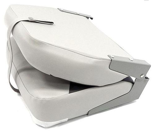 Сидіння капітанське в човен складене з високою спинкою сіро-вугільне, фото 2