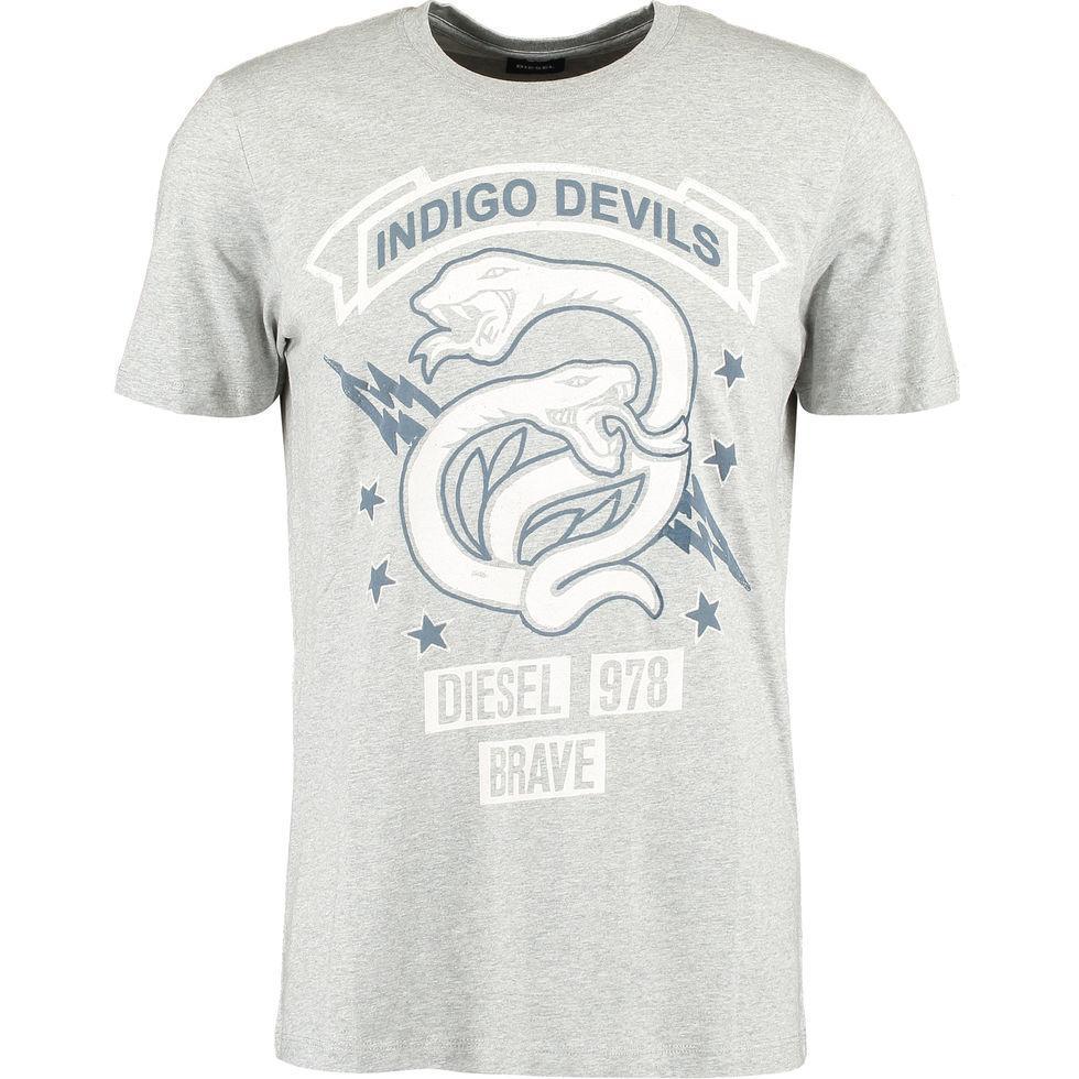Футболка мужская Diesel  Indigo Devils Snake Silver L