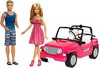 Оригинальный детский игровой набор кукла Барби и Кен Пляжный круиз Barbie Beach Cruiser CJD12