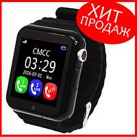 Детские умные смарт часы телефон с GPS Baby Smart Watch V7K Black