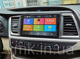 Штатная магнитола Toyota Highlander 2015-2019 г.на базе Android 8.1 Экран 10 дюймов