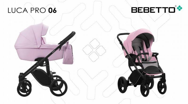 Коляска Bebetto Luca Pro 06 розовая